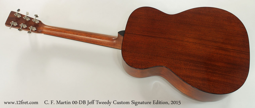 C. F. Martin 00-DB Jeff Tweedy Custom Signature Edition, 2015 Full Rear View