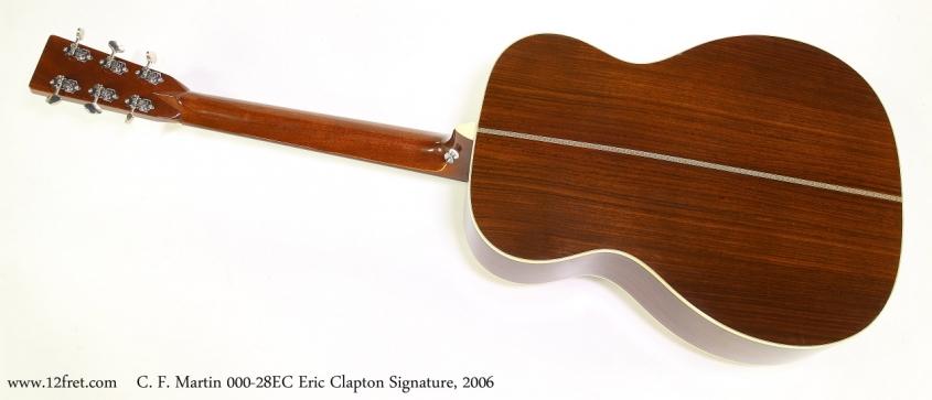 C. F. Martin 000-28EC Eric Clapton Signature, 2006  Full Rear View