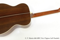 C. F. Martin 000-28EC Eric Clapton Left Handed, 2013  Full Rear View