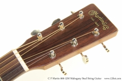 C F Martin 000-15M Mahogany Steel String Guitar Head Front View
