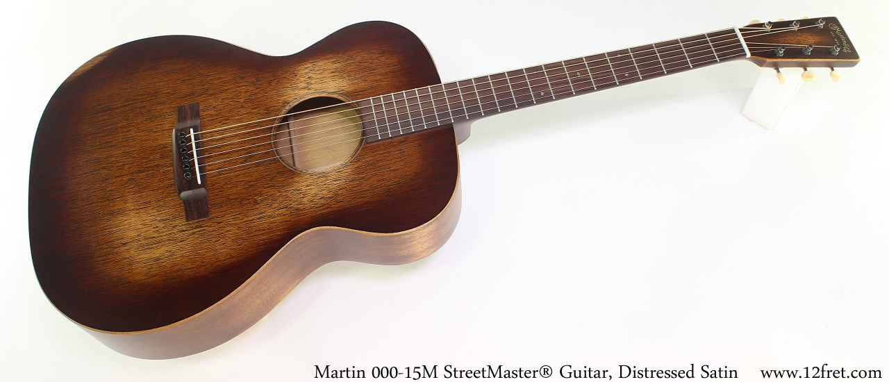 Martin 000-15M StreetMaster® Guitar, Distressed Satin Full Front View