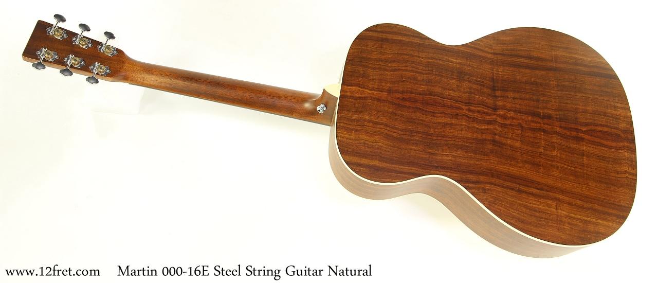 Martin 000-16E Steel String Guitar Natural Full Rear View