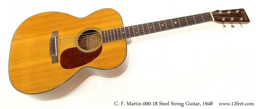 C. F. Martin 000-18 Steel String Guitar, 1948   Full Front View