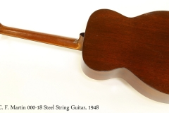 C. F. Martin 000-18 Steel String Guitar, 1948   Full Rear View