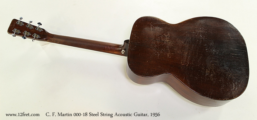 C. F. Martin 000-18 Steel String Acoustic Guitar, 1956 Full Rear View
