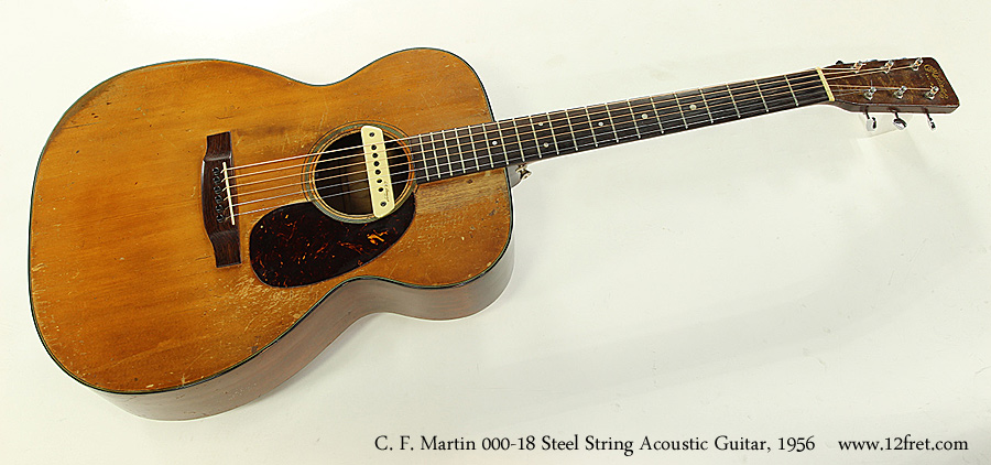 c f martin 000 18 steel string acoustic guitar 1956. Black Bedroom Furniture Sets. Home Design Ideas