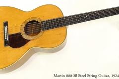 Martin 000-28 Steel String Guitar, 1924 Full Front View