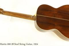 Martin 000-28 Steel String Guitar, 1924 Full Rear View