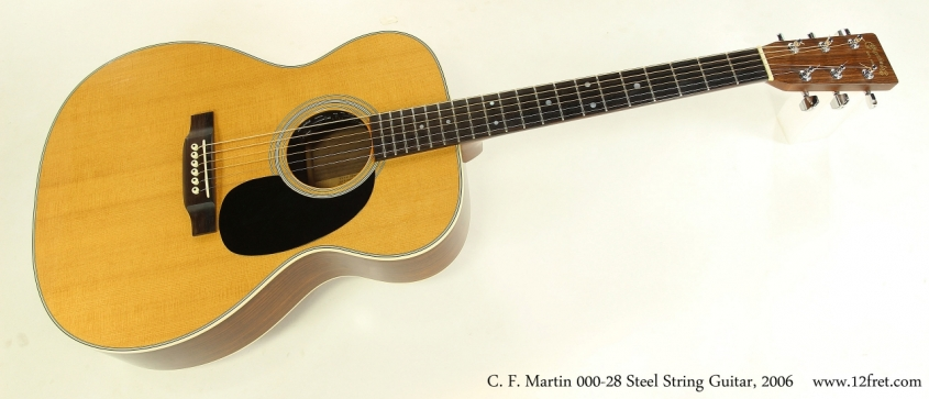 C. F. Martin 000-28 Steel String Guitar, 2006  Full Front View