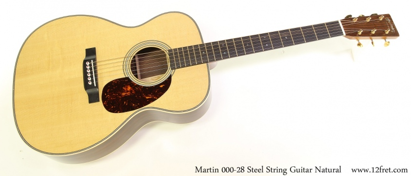 Martin 000-28 Steel String Guitar Natural Full Front View