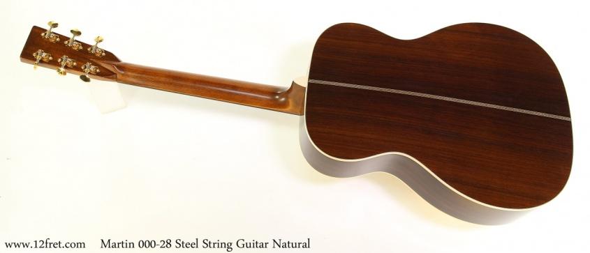 Martin 000-28 Steel String Guitar Natural Full Rear View