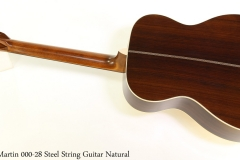 Martin 000-28 Steel String Guitar Natural Full Rear View