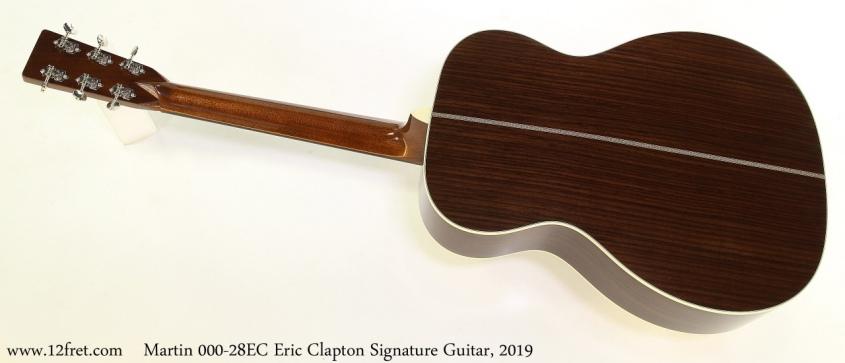 Martin 000 28EC Eric Clapton Signature Guitar, 2019 Full Rear View