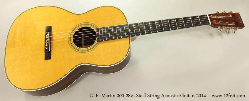 C. F. Martin 000-28vs Steel String Acoustic Guitar, 2014 Full Front View