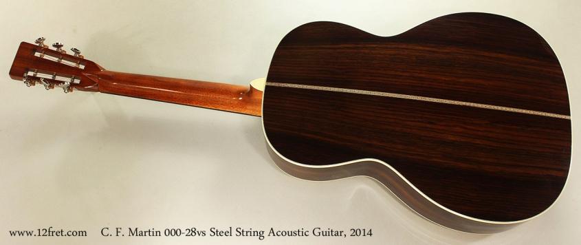 C. F. Martin 000-28vs Steel String Acoustic Guitar, 2014 Full Rear View
