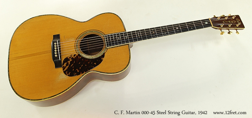 C. F. Martin 000-45 Steel String Guitar, 1942 Full Front View