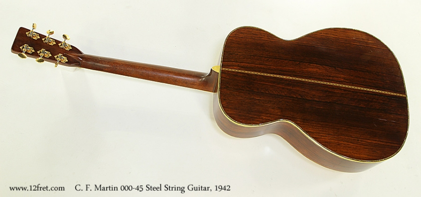 C. F. Martin 000-45 Steel String Guitar, 1942 Full Rear View