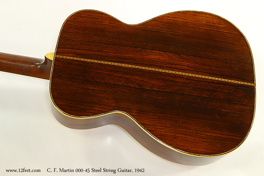 C. F. Martin 000-45 Steel String Guitar, 1942 Back View