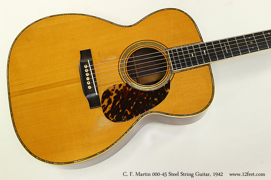 C. F. Martin 000-45 Steel String Guitar, 1942 Top View