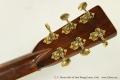 C. F. Martin 000-45 Steel String Guitar, 1942 Head Rear View