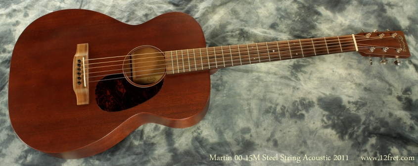 Martin 00-15M Steel String Guitar 2011 full front view