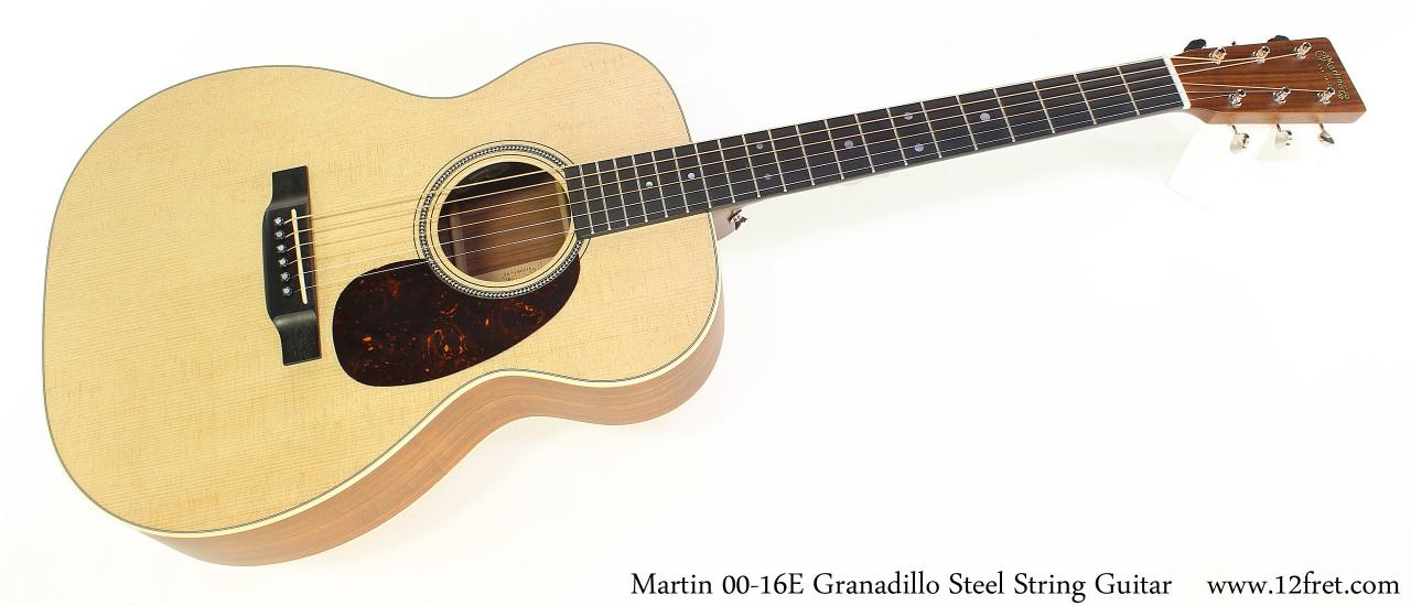 Martin 00-16E Granadillo Steel String Guitar Full Front View