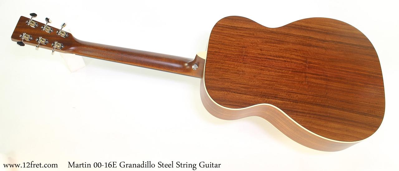 Martin 00-16E Granadillo Steel String Guitar Full Rear View