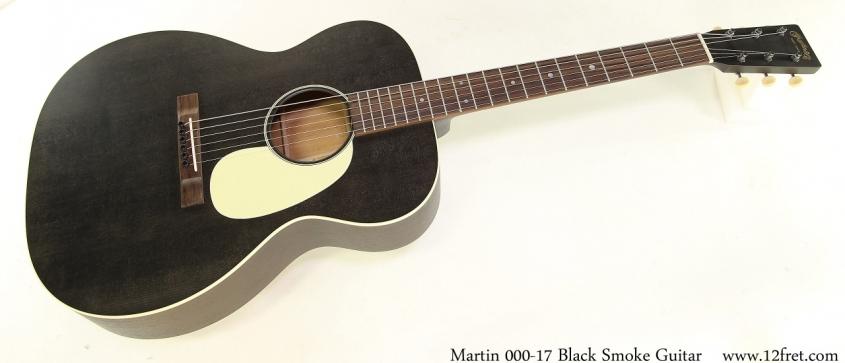 Martin 000-17 Black Smoke Guitar Full Front View