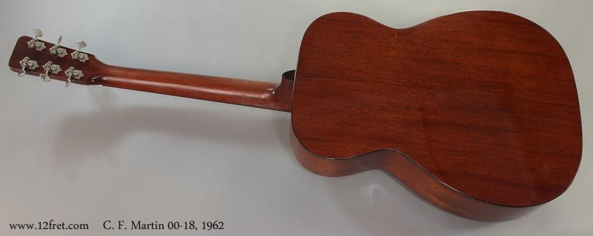 C. F. Martin 00-18, 1962 Full Rear View