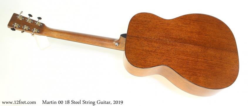 Martin 00 18 Steel String Guitar, 2019 Full Rear View