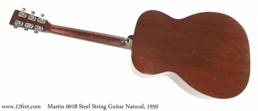 Martin 00-18 Steel String Guitar Natural, 1950 Full Rear View