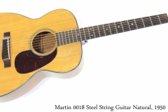 Martin 00-18 Steel String Guitar Natural, 1950 Full Front View