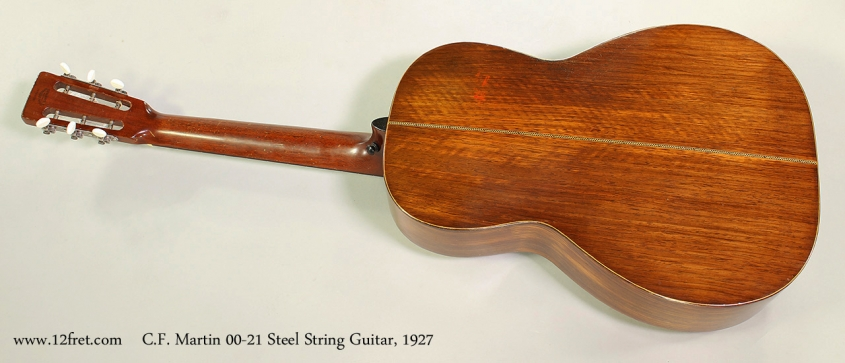C.F. Martin 00-21 Steel String Guitar, 1927 Full Rear View