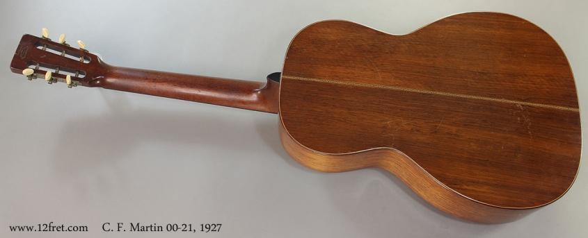 C. F. Martin 00-21, 1927 Full Rear View