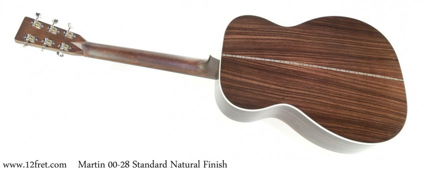 Martin 00-28 Standard Natural Finish Full Rear View