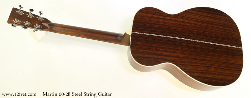 Martin 00 28 Steel String Guitar Full Rear View