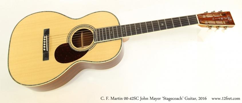 C. F. Martin 00-42SC John Mayer 'Stagecoach' Guitar, 2016  Full Front View
