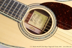 C. F. Martin 00-42SC John Mayer 'Stagecoach' Guitar, 2016  Rosette and Label Detail