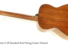 Martin 0-18 Standard Steel String Guitar Natural Full Rear View