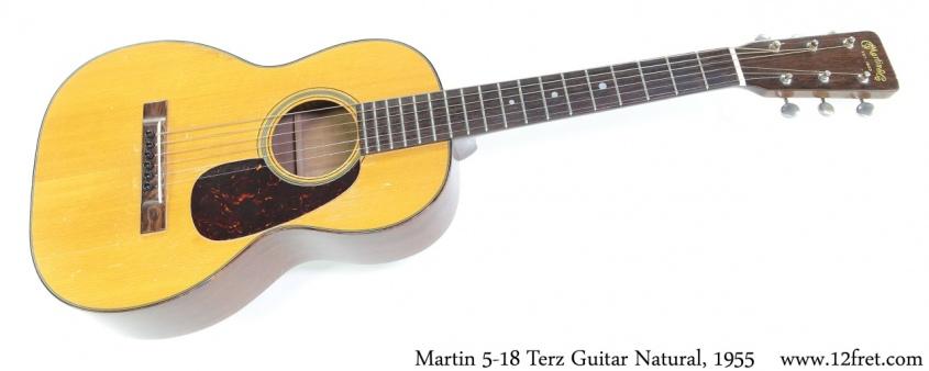 Martin 5-18 Terz Guitar Natural, 1955 Full Front View