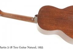 Martin 5-18 Terz Guitar Natural, 1955 Full Rear View