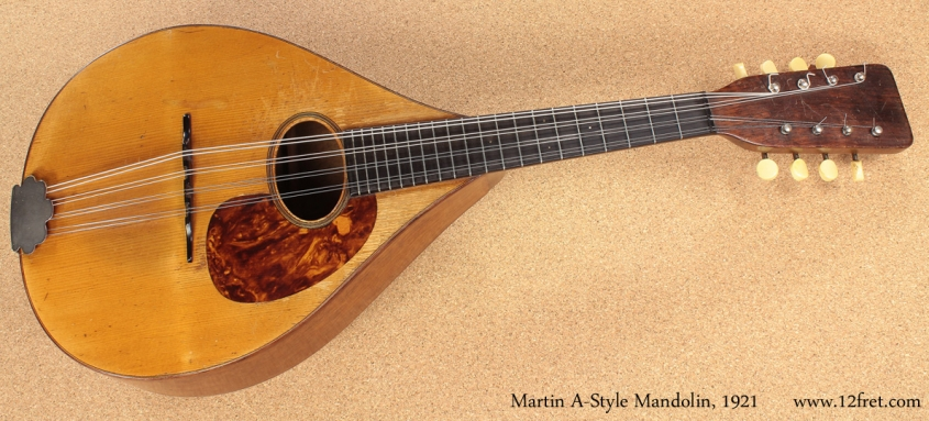 1921 Martin A-Style Mandolin full front view