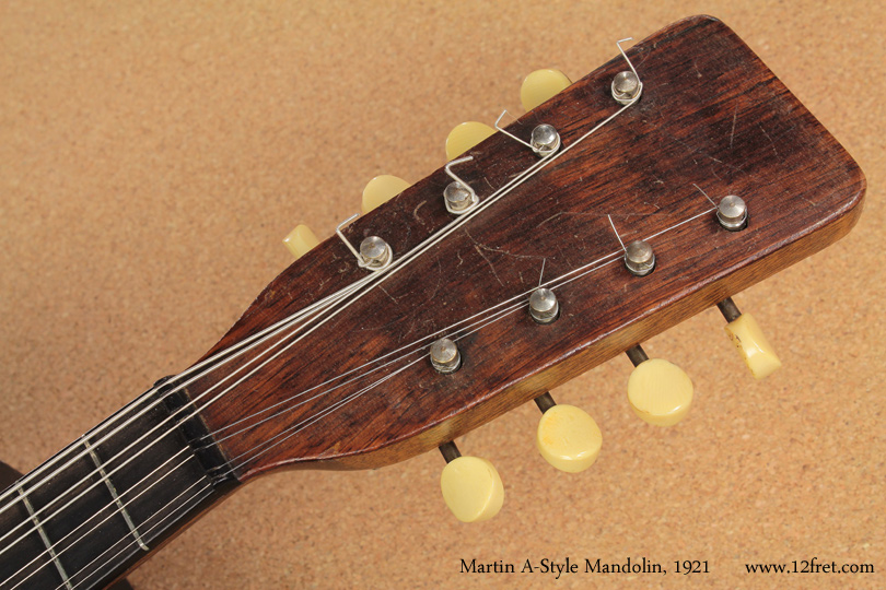 1921 Martin A-Style Mandolin head front view