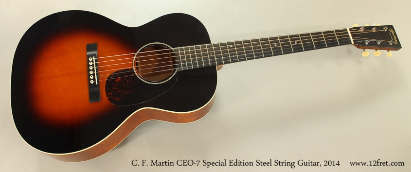 C. F. Martin CEO-7 Special Edition Steel String Guitar, 2014 Full Front VIew