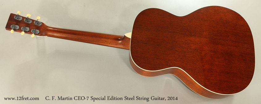C. F. Martin CEO-7 Special Edition Steel String Guitar, 2014 Full Rear View