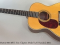 C. F. Martin 000-28EC Eric Clapton Model Left Handed, 2001 Full Front View