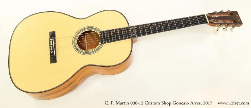 C. F. Martin 000-12 Custom Shop Goncalo Alves, 2017   Full Front View