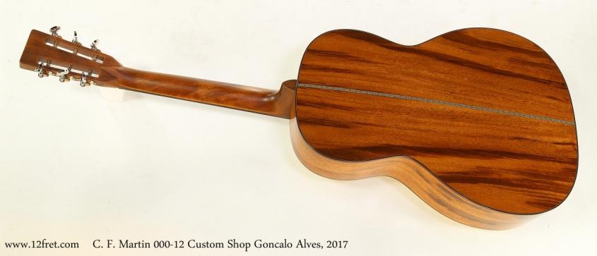 C. F. Martin 000-12 Custom Shop Goncalo Alves, 2017   Full Rear View