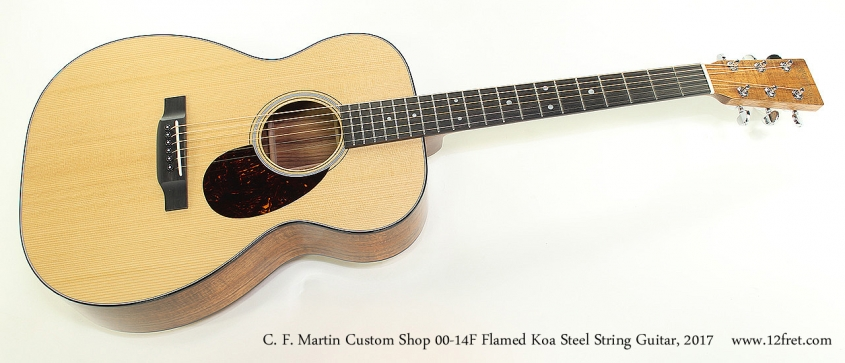 C. F. Martin Custom Shop 00-14F Flamed Koa Steel String Guitar, 2017 Full Front View