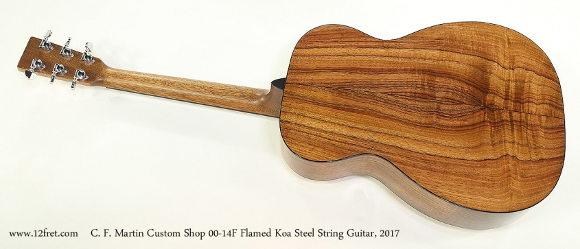 C. F. Martin Custom Shop 00-14F Flamed Koa Steel String Guitar, 2017 Full Rear View